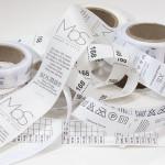 Самоклеящиеся этикетки все чаще используются производителями одежды