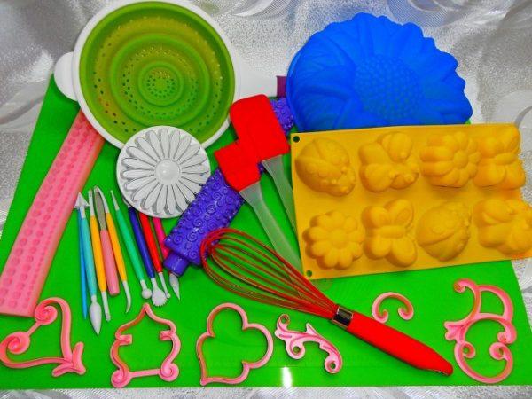 Силиконовые коврики для выпечки и моделирования кондитерских изделий