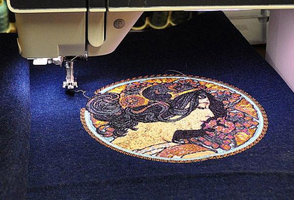 Процесс компьютеризированной вышивки